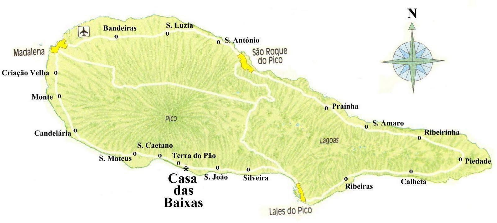 mapa do pico açores mapa do pico | Clube de Vinhos Portugueses mapa do pico açores