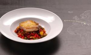 Caponata de legumes com atum