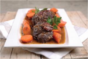 Carne estufada com cenouras